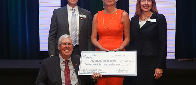 Johnson Controls Donates $100,000 to ASHRAE Research